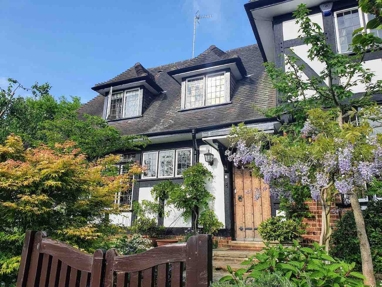 Hampstead Garden mock tudor style house
