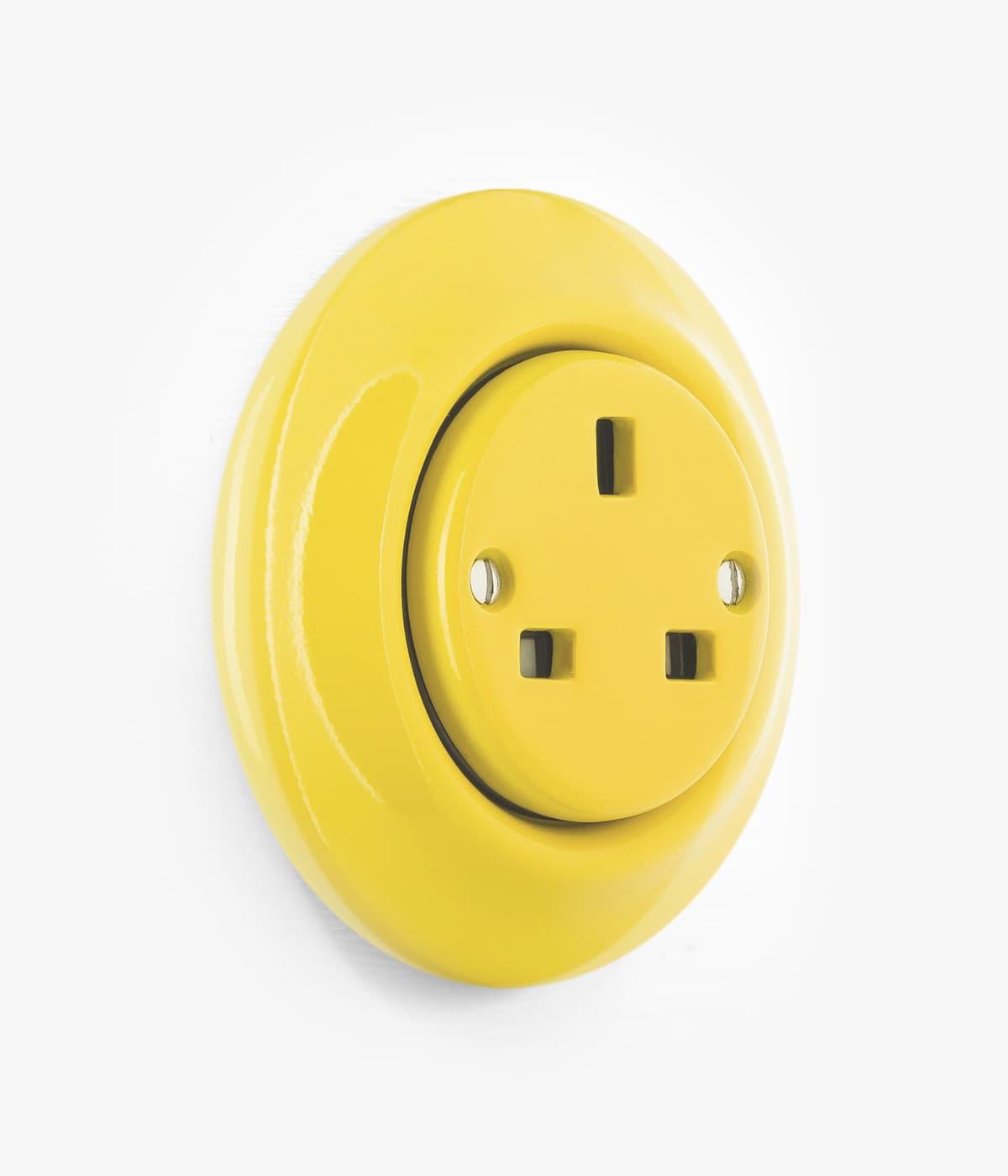 yellow plug socket