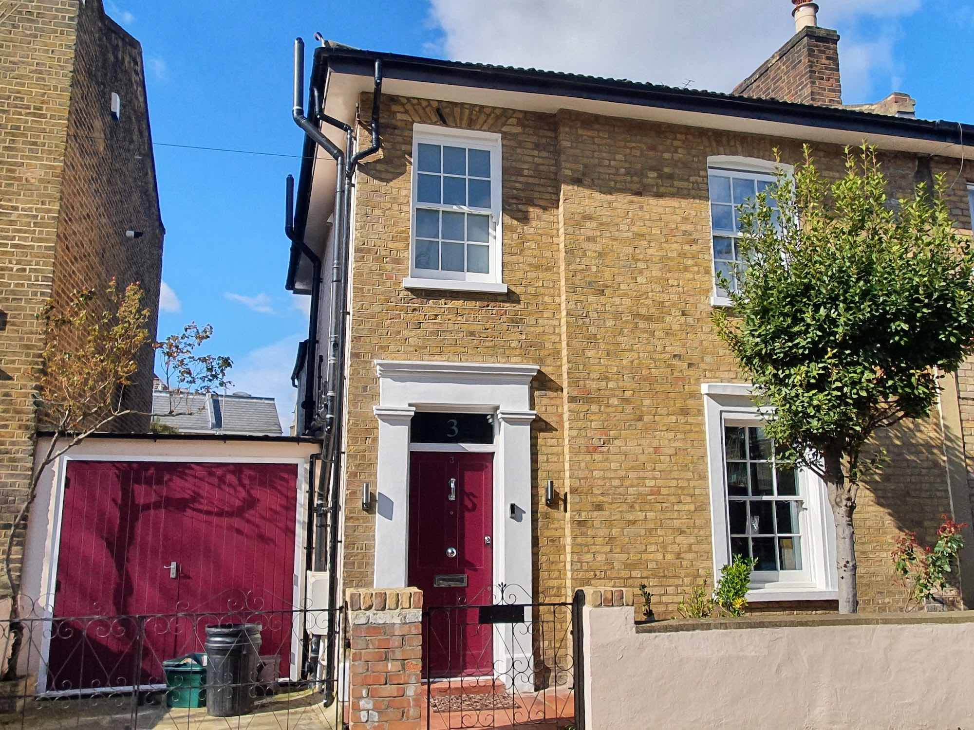 yellow brick terraced house in London N19