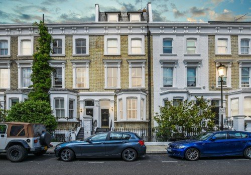 Earls Court period houses at dusk