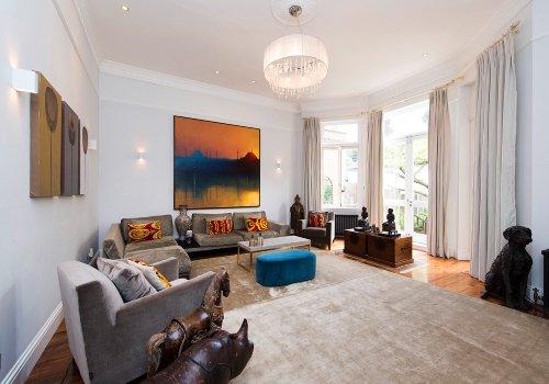 Luxury living room in Belsize Park